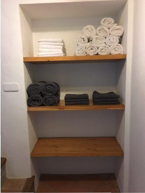 handdoeken aanwezig bij vakantiehuis in Spanje