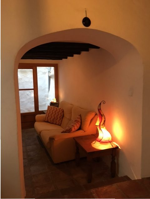 knusse zithoek vakantiehuis Casa Solar bij Malaga | Casa Solar